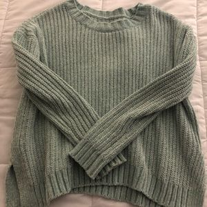 Aerie seaweed green sweater size medium